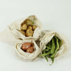 Organic Cotton Produce Bags – Set of 3 Sizes
