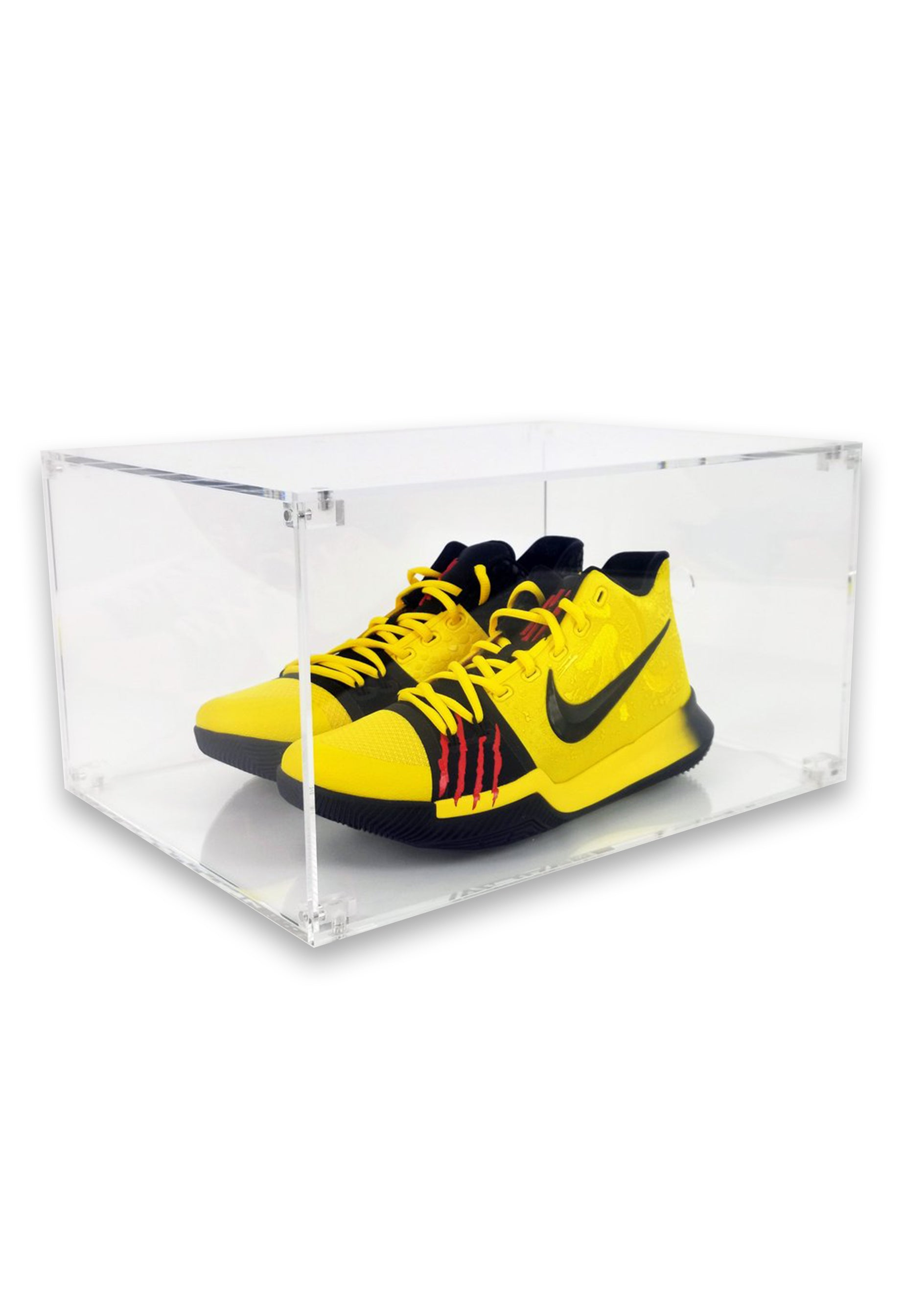 acrylic sneaker shoe display case box collapsible magnetic