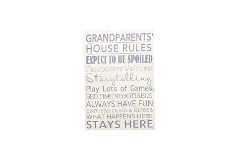 Regal A3 Canvas Grandparents Rules-sold out