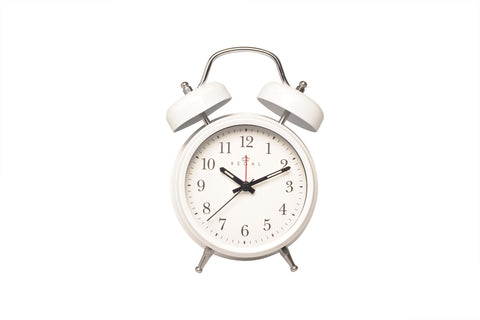 Regal White Classic Twin Bell Alarm Clock | Regal Frames