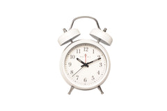 Regal White Classic Twin Bell Alarm Clock-sold out