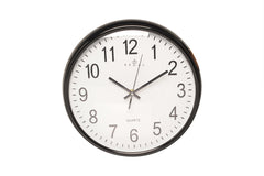 "Regal 12"" Black Plastic Wall Clock"