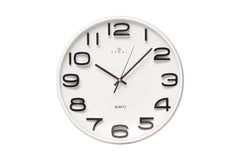 "Regal 13"" White Plastic Wall Clock"