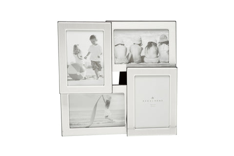 "Regal Home 2 Tone Silver Multi Frame, holds 4 photos (4x6"")"