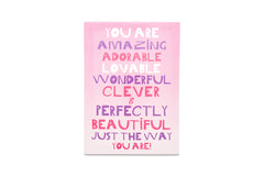 Regal A3 Canvas You are Beautiful Pink-sold out