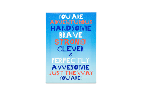 Regal A3 Canvas You are Awesome Blue-sold out
