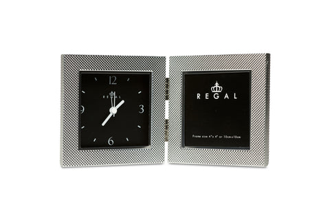 Regal Zaro Silver Clock and Frame