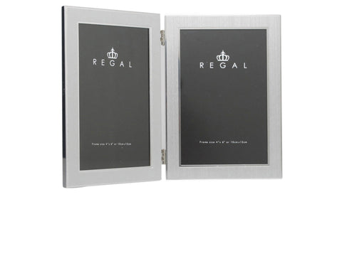 Regal Dbl Brushed Silver | Regal Frames
