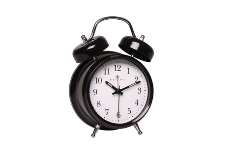 Regal Black Classic Twin Bell Alarm Clock | Regal Frames