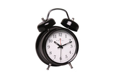 Regal Black Classic Twin Bell Alarm Clock-sold out