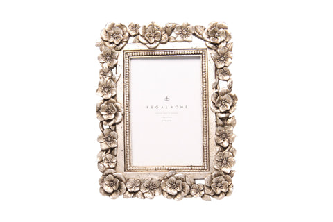 Regal 4x6 Resin Rose Burnished Silver | Regal Frames