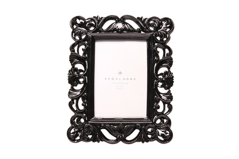 Regal 4x6 Glossy Black Ornate | Regal Frames