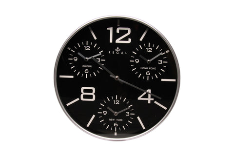 Regal 35cm 4 Time Zone Wall Clock | Regal Frames