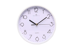 "Regal 10"" White Plastic Wall Clock"