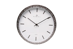 "Regal 11"" Silver Hammertone Wall Clock-sold out"
