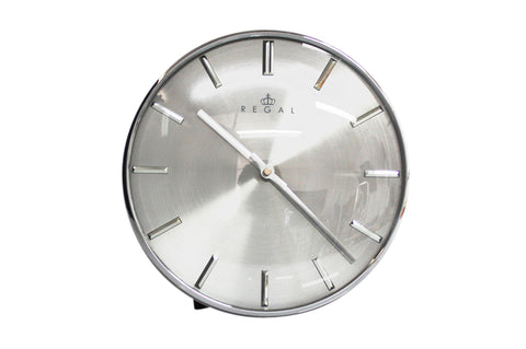 "Regal 11"" Steel w/Chrome Finish Wall Clock 