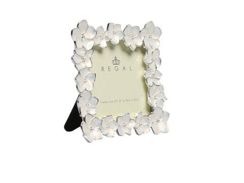 Regal Cream Flowers Pewter | Regal Frames