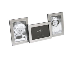 "Regal Home 2 Tone Silver Multi Frame, holds 3 photos (4x6"")"