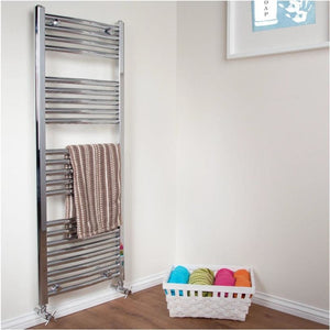 Curved Chrome Heated Towel Radiator 1170mm x 450mm