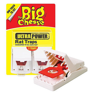 Big Cheese Ultra Power Rat Traps-Twin Packs