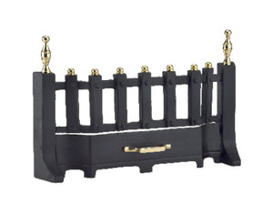 "Home Collection 16"" Black & Antique Brass Fire Front"