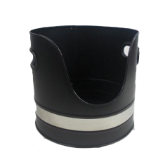Black & Nickle Log Bucket