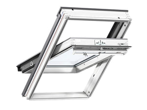 Velux White Painted Centre Pivot Roof Window - 55X78Cm