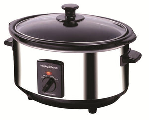 Morphy Richards Oval Stainless Steel Slow Cooker 3.5L