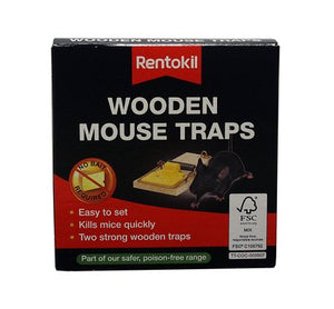 Rentokil Wooden Mouse Traps 2 Piece