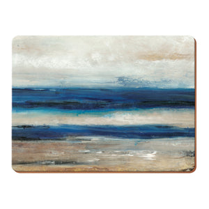 Creative Tops Blue Abstract Pack of 4 or 6 large premium placemats