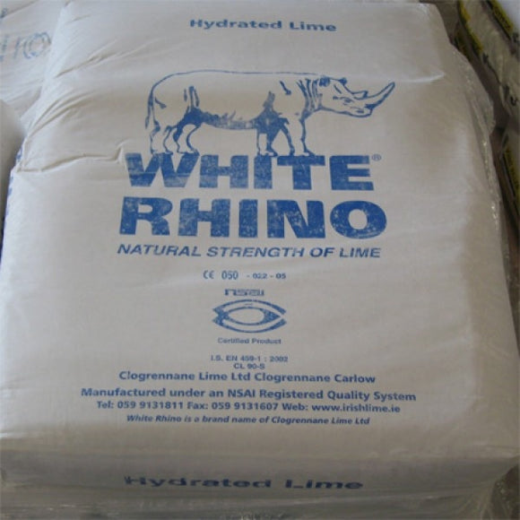 White Rhino Hydrated Lime 25Kg. Pallet prices available