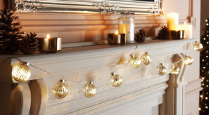 Glass Bauble Garland Lights
