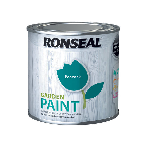 Ronseal Garden Paint 250ml Peacock