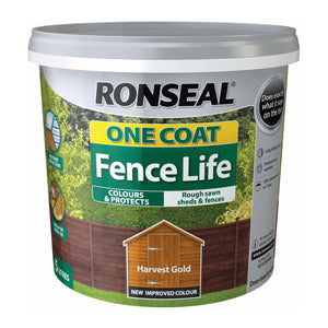 Ronseal Fence Life One Coat Harvest Gold 5L