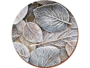 Frosted Leaves pack of 4 round Placemats