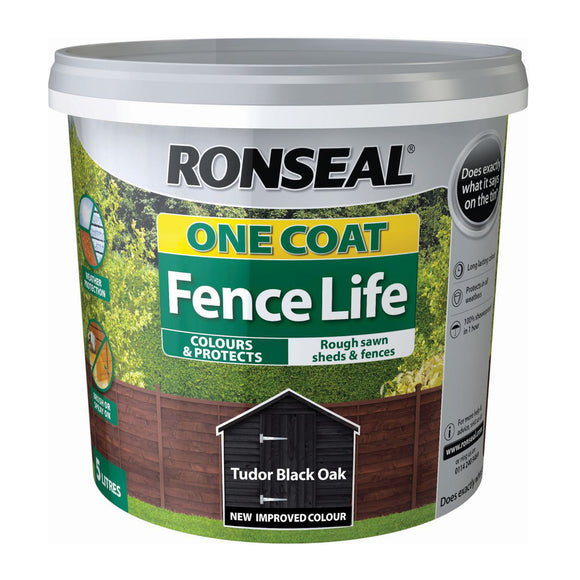 Ronseal Fence Life One Coat Tudor Black Oak 5L