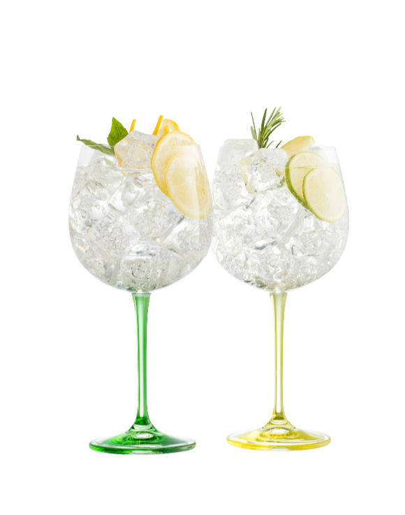 Galway Crystal Gin & Tonic Lemon & Lime set of Glasses