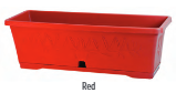 Oliveta Window Box 40cm Red