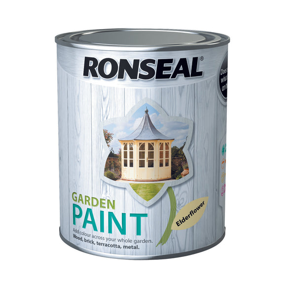 Ronseal Garden Paint 750ml Elderflower