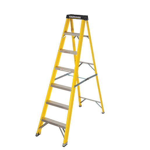 6 Step Single-Sided Fibreglass Step Ladder