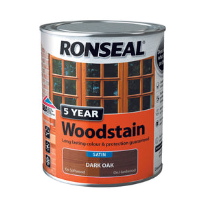 5 Year Woodstain 750ml Dark Oak