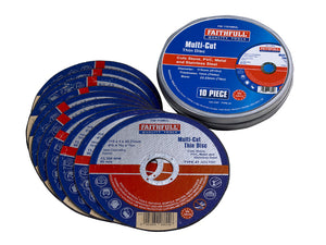 Faithfull Cut Off Wheels (Tin of 10)