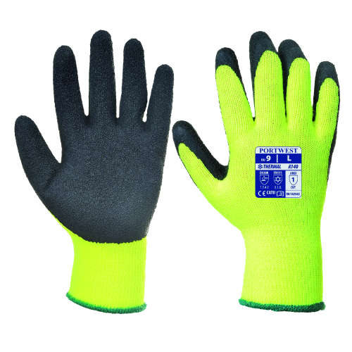 Portwest Thermal Grip Glove Yellow/Black