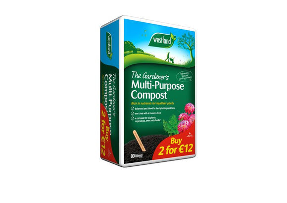 Westland 80 Litre Multi-Purpose Compost 2 for 12