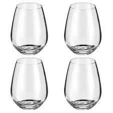 Judge Glassware 4 piece Stemless Wine Glass Set 400ml