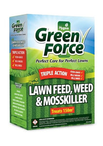 Hygeia Greenforce Lawn Feed, Weed & Moss Killer 3kg