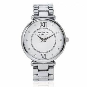Tipperary Crystal Timeless Silver ladies watch