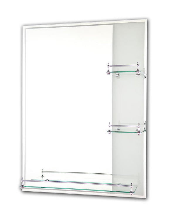Tema Etched Mirror Rectangle With 3 Shelves