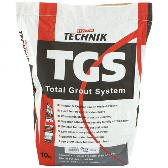 Evo-Stik TECH TGS TILE GROUT GREY 10KG