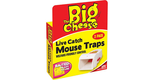Big Cheese Live Catch Mouse Traps Twin Pack